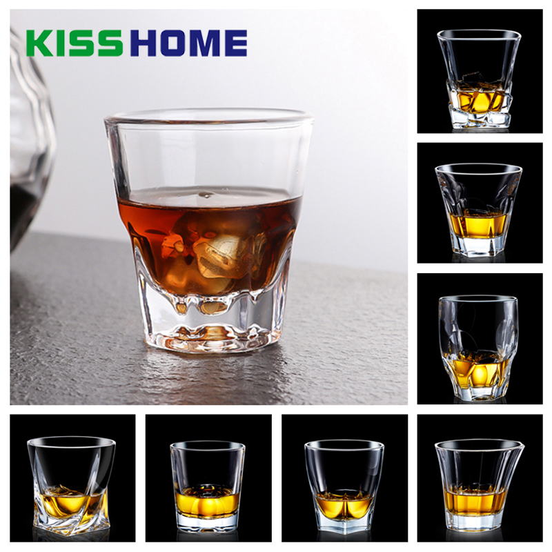 Whiskey Wine Glass Cups Lead-free High Capacity Beer Glass Wine Crystal Cup Bar Hotel Drinkware Coffee Mugs Kitchenware