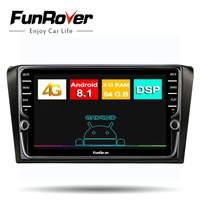 Funrover 8 core Car Radio Multimedia Android 8.1 Car DVD gps Player For Mazda 3 mazda3 2004 2009 Navigation Stereo vedio SIM DSP