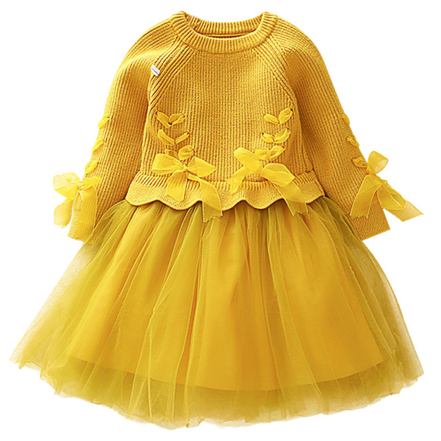 Платье для девочек, детское вязаное платье с длинными рукавами, Vestidos, 2018 Рождественский костюм вечерние платья для девочек, осенне-зимнее детское платье для девочек