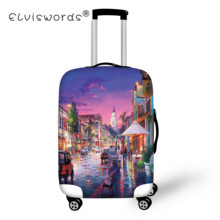 ELVISWORDS Luggage Protective Covers Landscape Venice Case Cover Travel Accessories Elastic Dust Cover Apply to 18-28 Suitcase