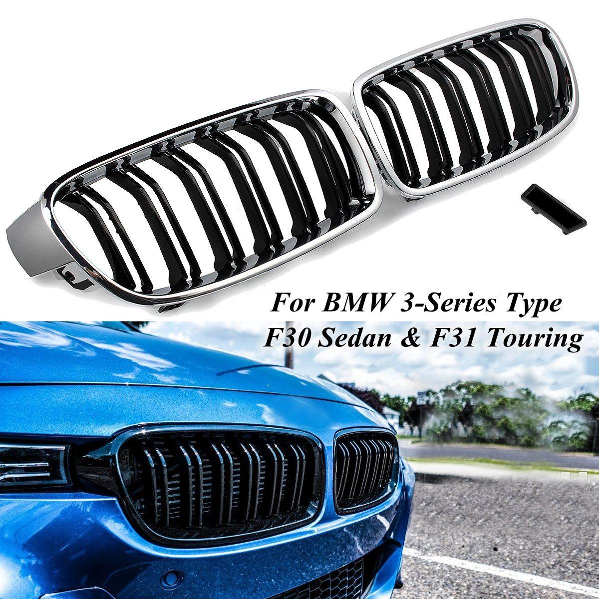 2 шт. ABS M3 выглядеть автомобиль передняя решетка почек решетка для BMW 3 серии Тип F30 седан и F31 Touring