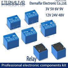 Time Relays SRD-05VDC-SL-A 5V 6V 9V 12V 24V 48V DC 10A 125V 250V AC SPDT NO Typc A 4PIN B-M C 5PIN PCB T73