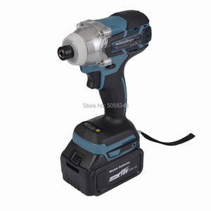 """Image 2 - Electric Rechargeable cordless and brushless 6.35mm 1/4"""" impact driver drill with two 18V 4.0Ah Lithium ion Battery"""