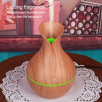 Usb Electric Humidifier Aroma Oil Diffuser Ultrasonic Wood Grain Air Humidifier Cool Mini Mist Maker LED