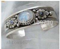Livraison gratuite Merveilleux tibet argent opale lapis perles bracelet manchette 5.5