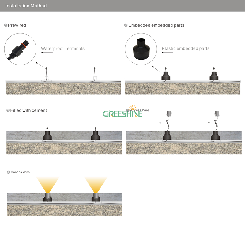 12pcs 1w 12v 24v ip67 waterproof underground led outdoor garden lamp 12pcs 1w 12v 24v ip67 waterproof underground led outdoor garden lamp recessed deck light floor led lamp landscape lighting in led underground lamps from asfbconference2016 Image collections
