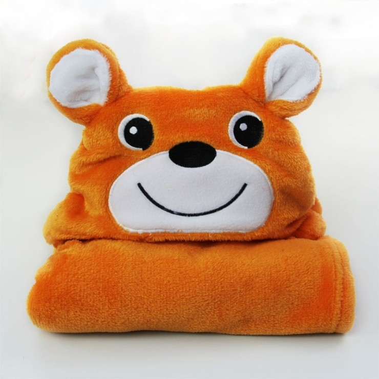 Cartoon Animal Style Baby Hooded Bathrobe