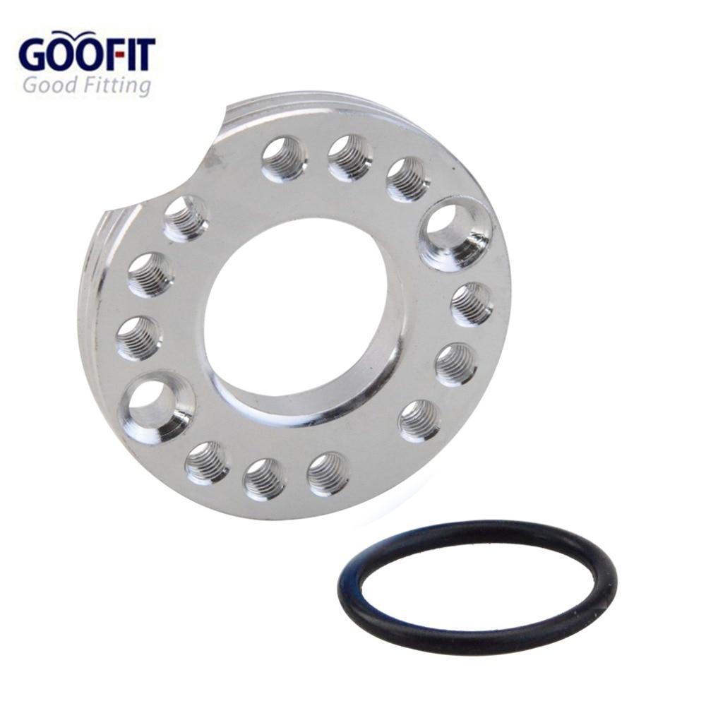 GOOFIT sliver 28mm Carburetor Spacer Manifold Adapater IntakeSpinner Plate for 50cc 70cc 90cc 125cc Sunl Taotao NST Roketa ATV M