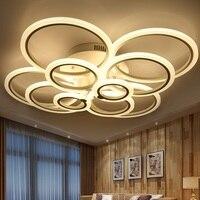 Stepless adjustable brightness and adjustable color LED acrylic ceiling lamps, 4 head, 6 head, 8 head, 10 head LED ceiling light