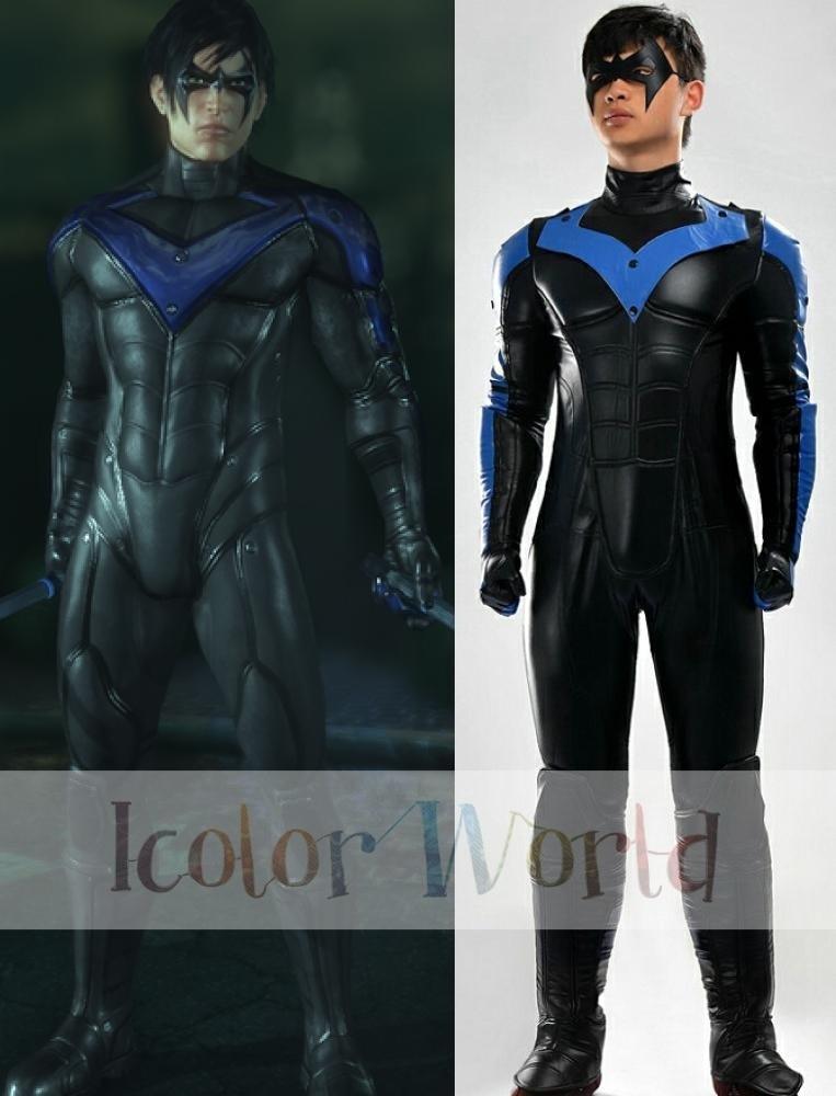 New Deluxe Batman: Arkham City Nightwing Cosplay Costume ...
