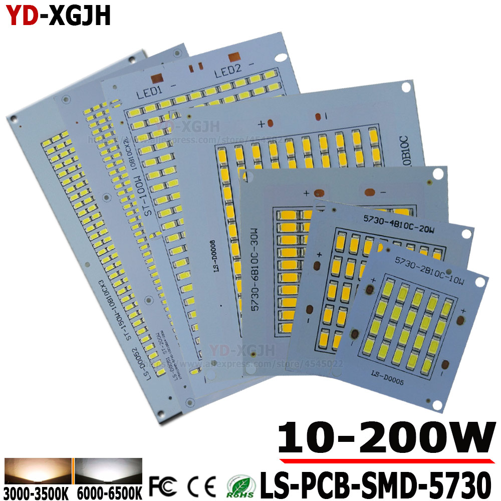 100% Full Power LED Floodling PCB 10W20W 30W 50W 100W 150W 200W SMD5730 LED Lamp Led PCB Board Aluminum Plate For Led Floodlight
