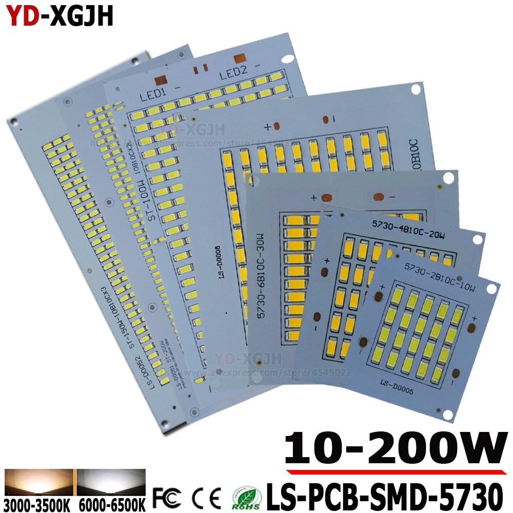 100% Full Power LED Floodling PCB 10W20W 30W 50W 100W 150W 200W SMD5730 LED Lamp Led PCB Board Aluminum Plate For Led Floodlight
