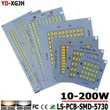 100% Полный Мощность светодиодный floodling PCB 10W20W 30 W 50 W 100 W 150 W 200 W SMD5730 светодиодный светильник СВЕТОДИОДНЫЙ печатной платы Алюминий пластина для Светодиодный прожектор
