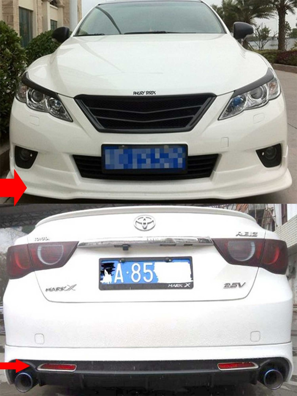 For Toyota MARK X Reiz Body Kit Front Rear Bumper Side Lips-in Body Kits  from Automobiles & Motorcycles on Aliexpress.com | Alibaba Group