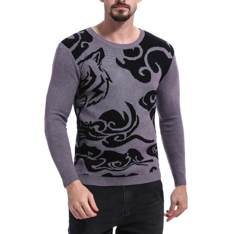 Herbst Winter Jugend Mode High Street Wolle Pullover Männer Rot Weihnachten Stricken Kleidung Oansatz Voll Pullover Männer Tops Pullover