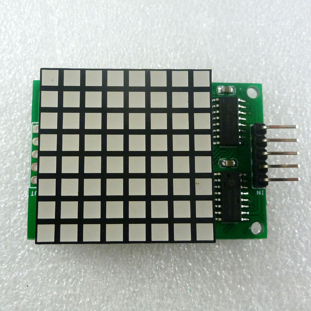 8x8 Square Matrix Red LED Display dot Module74hc595 Drive for Arduino UNO MEGA2560 DUE raspberry pi