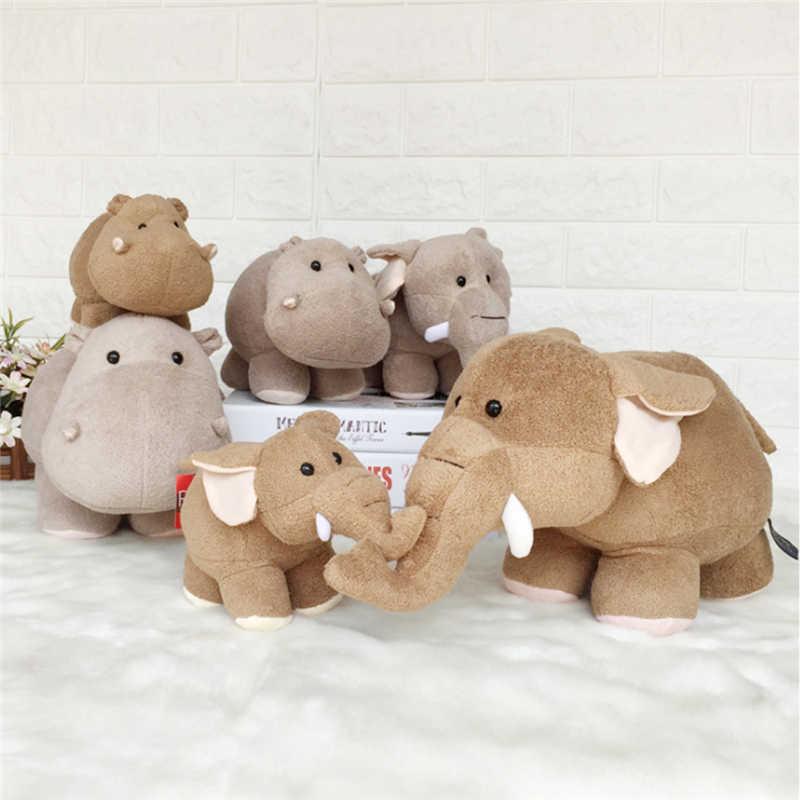 Милая большая плюшевая игрушка длина 20 см высота 15 милый слон с длинным хоботом