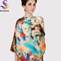2016 High Quality Silk Scarf Shawl New Design Mulberry Silk Georgette Satin Long Scarves Female Spring Autumn Silk Scarf Cape
