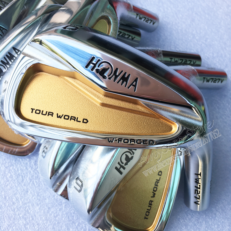 Image 2 - New Mens Golf irons head HONMA TW727V 24k gold irons Golf head set 4 10 Irons Golf Club head no Clubs shaft Free shipping-in Club Heads from Sports & Entertainment