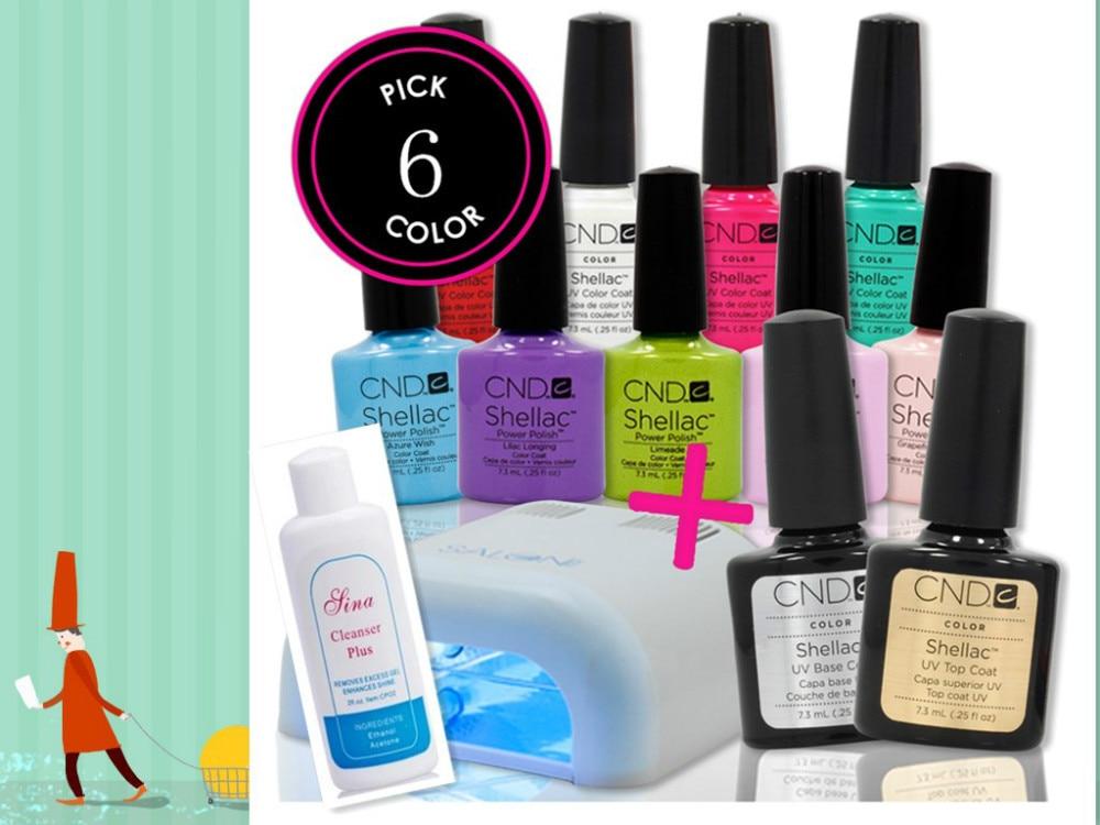 Cheap Price Cnd Gel Soak Off Uv Led Nail Gel Polish Color Gel Base Top Coat Free Choose 6