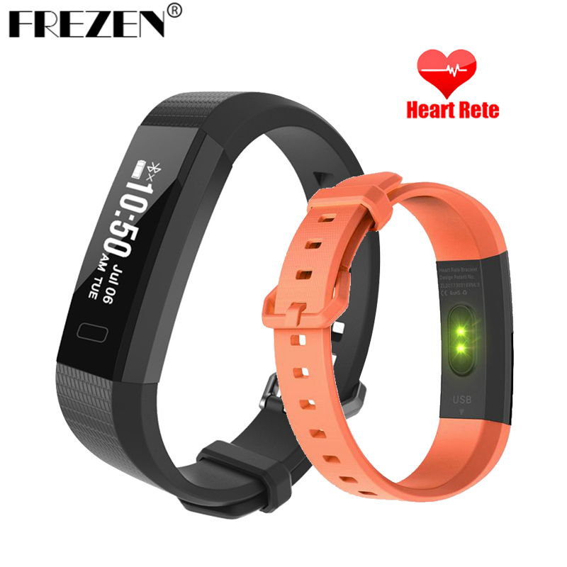 FREZEN Smart Wristband 2 Fitness Tracker Watch Step Counter Calorie Bracelet Sleep Pedometer Heart Rate Monitor Men's PK ID115