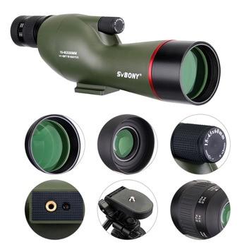 SVBONY 15-45x60mm SV19 Зрительная труба прямая 180 'Водонепроницаемая стрельба из лука охота наблюдение за птицами FMC телескоп + высокий штатив F9328