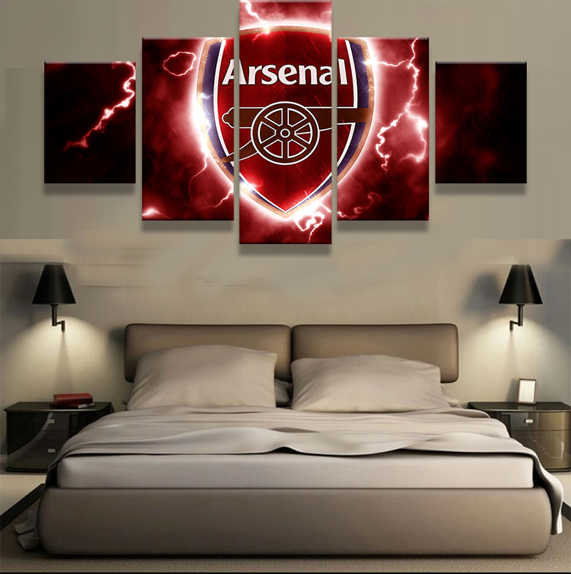 Wall Decor Set Up : Pieces arsenal football club modern home wall decor