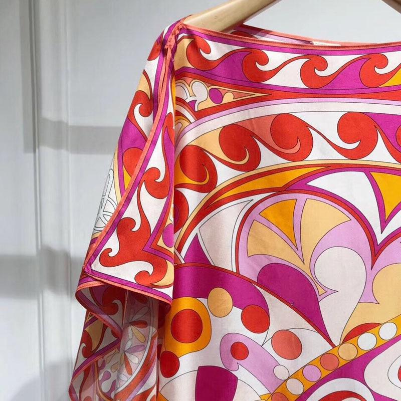Vêtements Élégantes 2019 Robes Soie Printemps souris Femelle En Chauve Manches Femmes Robe Imprimé 60w8xA67