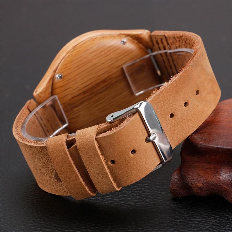 Ստեղծող պարզ փայտե ժամացույցներ - Տղամարդկանց ժամացույցներ - Լուսանկար 5