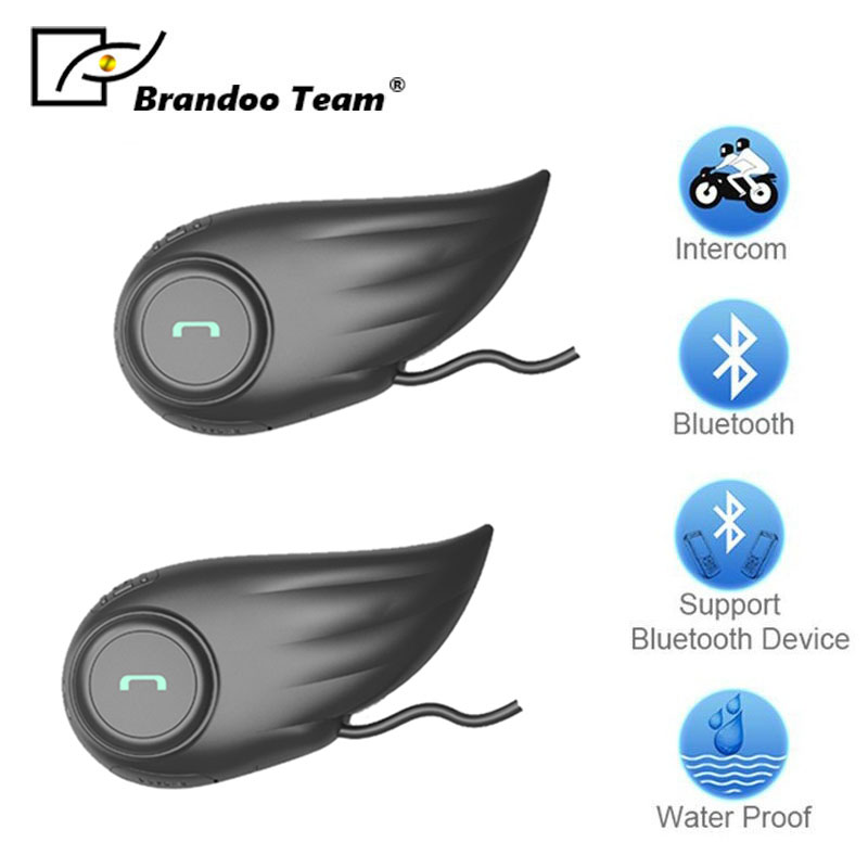 2 pcs F1 Bluetooth Moto Casque Intercom Moto Moto BT Interphone Casque, annulation de bruit casque casque
