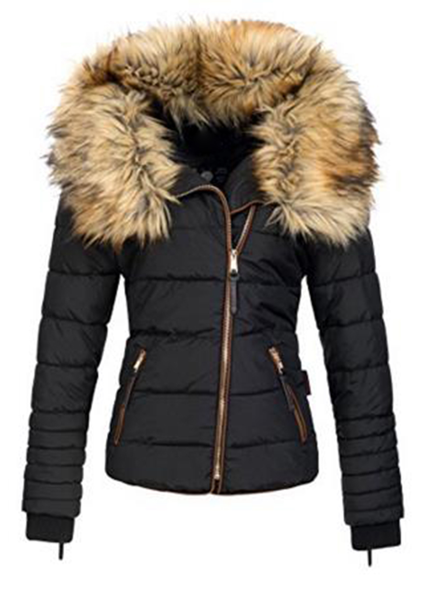 8fad1f49c83 Новинка 2018 года Женские парки женские зимние пальто утолщение хлопок зимняя  куртка для женщин s черный искусственный мех верхняя одежда пар.