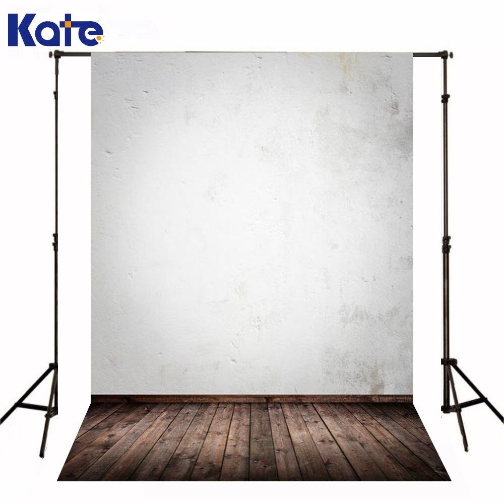 Kate Photography Backdrop Newborn Baby Dark Wood Texture Floor Background White Paint Wall Photography Backdrops Studio  недорого