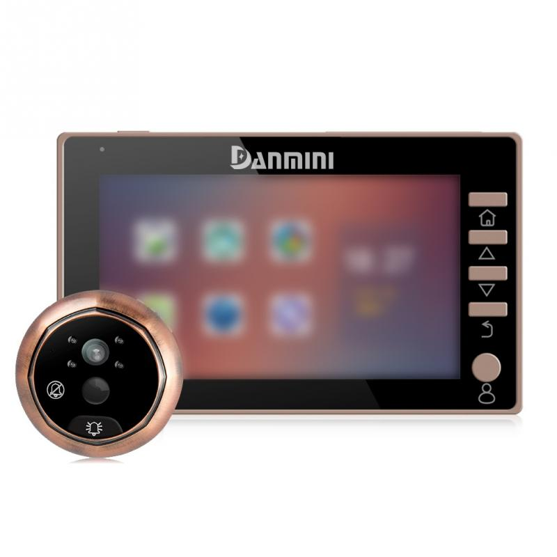 Peephole Door Camera 4.5 Inch Color Screen Electronic Doorbell Wide Angle Shooting Video Door Viewer Video-eye Home Security x5 home smart doorbell security door peephole camera electronic cat eye and hd pixels tft color screen display audio door bell