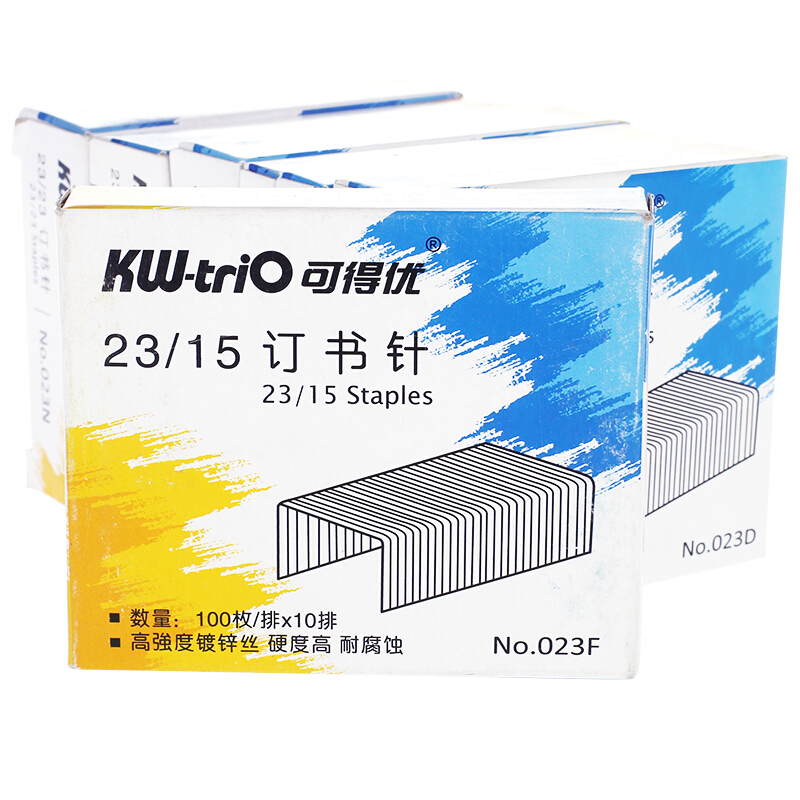 Heavy Duty Staples 23/15 1000 Count/box Silver Metal Booking Binding Staples 120 Sheets Office School Supplies KW - 023F 23 / 15