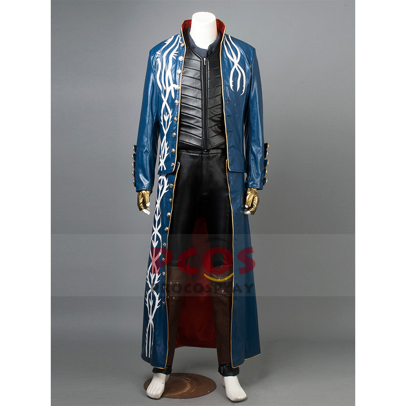 US STOCK * Ready To Ship High Quality Devil May Cry 3 Vergil Cosplay Scarf & Costume mp002710