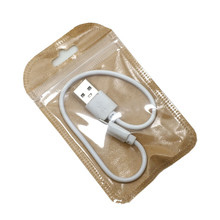 200Pcs Clear Front  Kraft Paper Zip lock Electronics Packaging Bag with Hang Hole DIY Crafts Small Gift Storage Reclosable Pouch