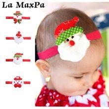 цена Christmas Baby Cartoon Pattern Headband Santa Claus Elastic Soft Hairband For Newborn Hair Accessories Photography Props онлайн в 2017 году