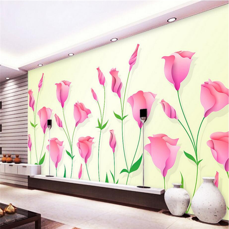 Custom Large-Paper-Flowers Minimalist 3d Wallpaper Murals Environment Friendly 3d Wall Paper for Living Room TV Background Study shinehome black white cartoon car frames photo wallpaper 3d for kids room roll livingroom background murals rolls wall paper