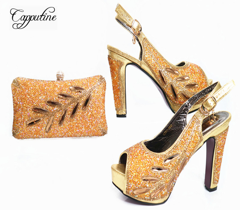 Capputine 2017 Beautiful African Style Shoes And Matching Bag Set Italian rhinestones Shoes And Bags Set For Wedding Dress G37 corol прогулочная коляска s 10 corol серый