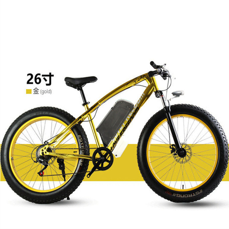 Electric bicycle 48V 500W 12Ah powerful electric bicycle lithium battery electric bicycle hair 26 x 40 cross-country bicycle