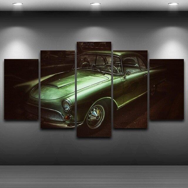 Vieille voiture artistique imprim dessin sur toile hd imprim maison d cor pulv risation - Dessin vieille voiture ...