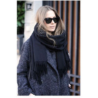 HOT New Acne Pure Color Virgin Wool Unisex Pashmina Cashmere Scarfs Shawl
