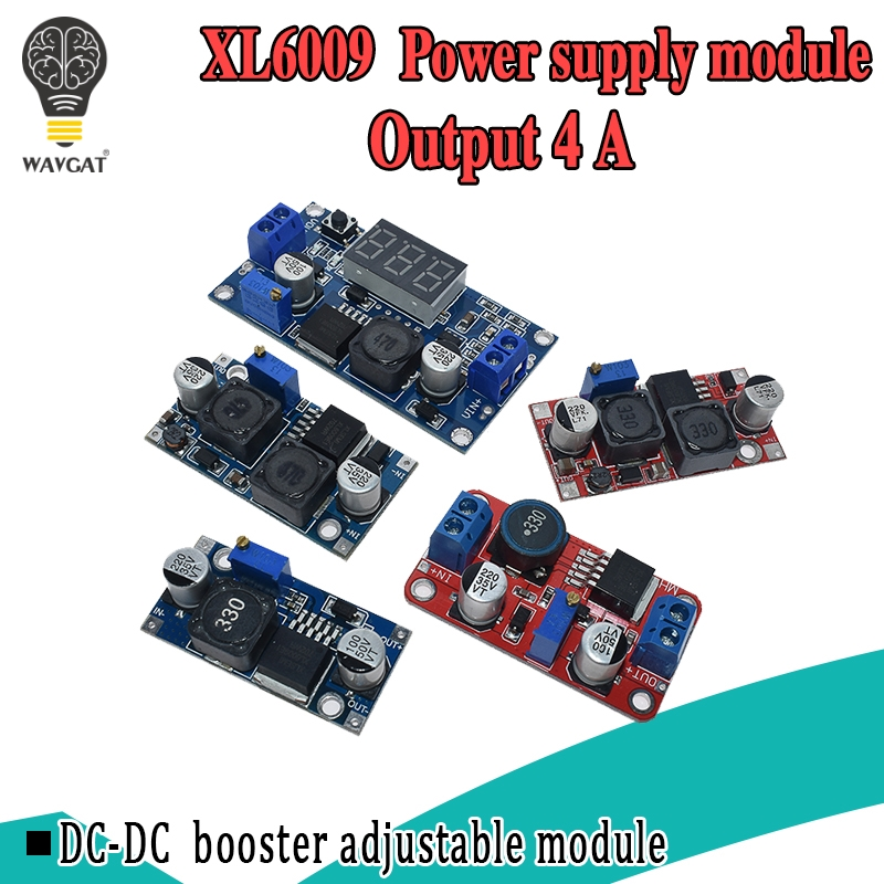 XL6009 4A Boost Converter Step Up Adjustable 15W 5-32V To 5-50V DC-DC Power Supply Module High Performance Low Ripple