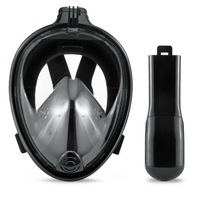 180 Degree Open View Full Face Free Breathing Snorkeling Mask with Tubeless Prevent Gag Reflex Easy Free Breath Dive Gear