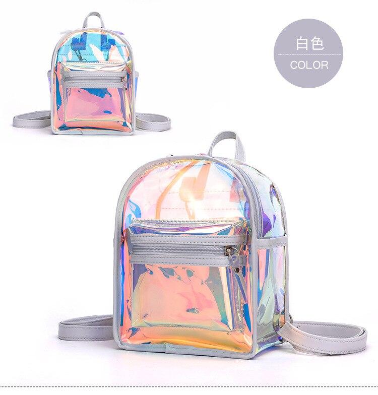 escola para adolescentes a laser escola mochila bolsa saco claro