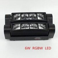 الساخن شحن مجاني محمول جديد تتحرك رئيس ضوء مصغرة بقيادة العنكبوت 8x6 واط rgbw شعاع ضوء نوعية جيدة سريع الشحن