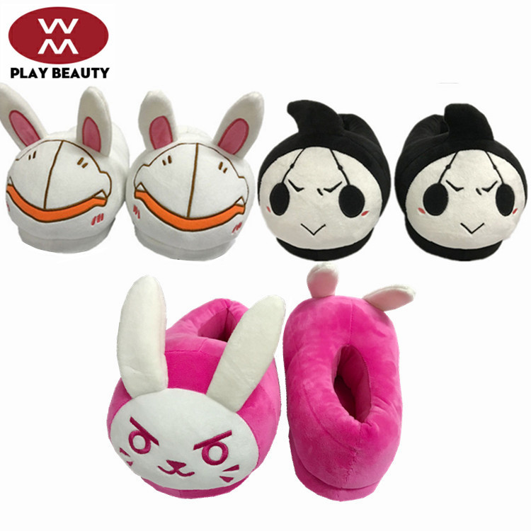 BLEACH R broken wool cloth with soft nap slipper The white rabbit DVA Q version Cotton slippers