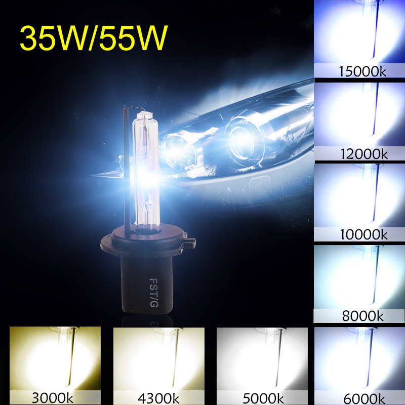 1Pair Car Headlight HID Xenon H7 Bulb 55W 3000K 4300K 5000K 6000K 8000K 10000K 12000K Auto Lamp 12V H7 Xenon Bulbs Fog Light 2pcs xenon hid bulb 9006 55w car headlight lamp 4300k 5000k 6000k 8000k 10000k 12000k 12v car light lens auto fog light bulb