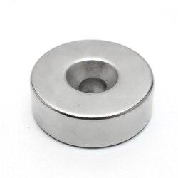 30x10mm Loch 6mm Super Starke Ring Schleife Versenkt Magnet Rare Earth Neo Neodym Magneten Zylinder 6mm