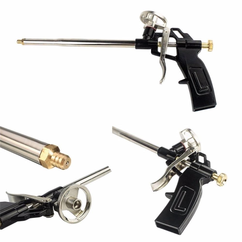 2pcs Per Order Foam Gun, Picowe Foaming Gun Pu Expanding Caulking Gun Metal Body Pro Heavy Duty PU Foam Gun
